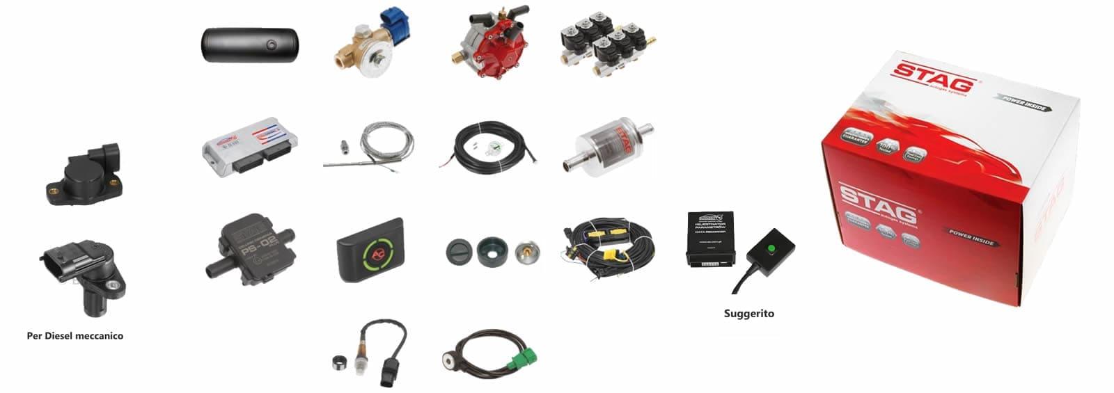 Componenti sistema STAG diesel